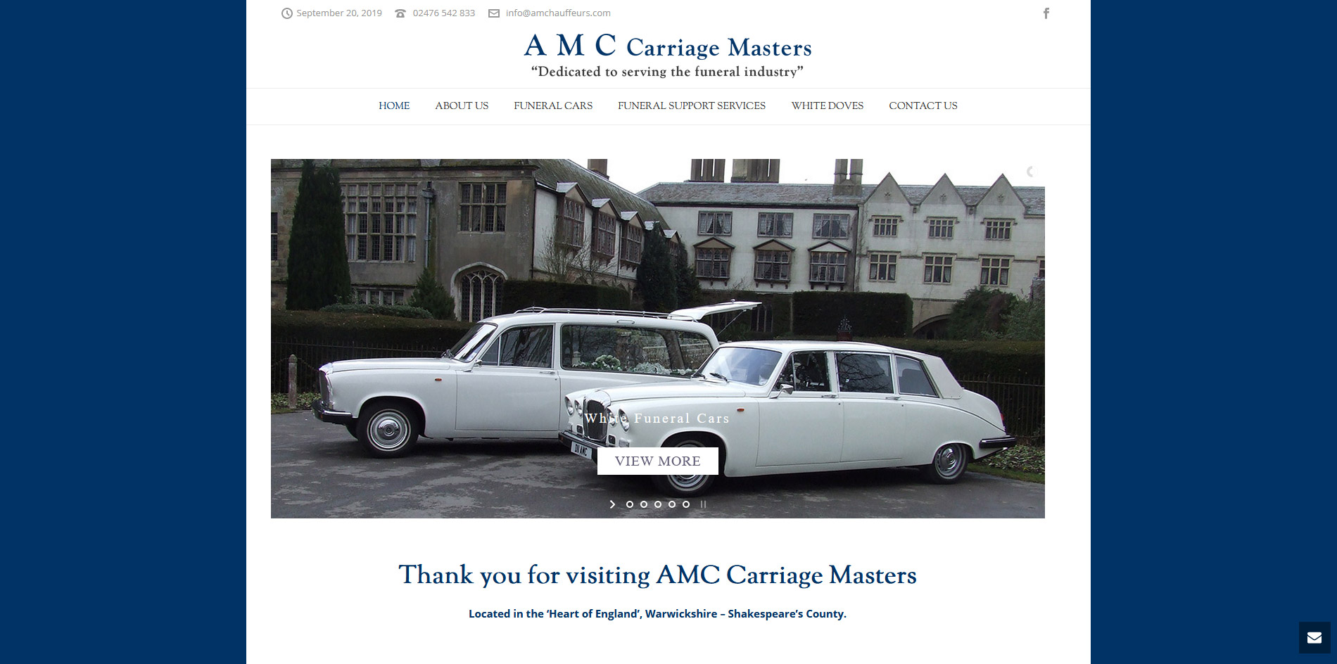 AMC Carriage Masters Website