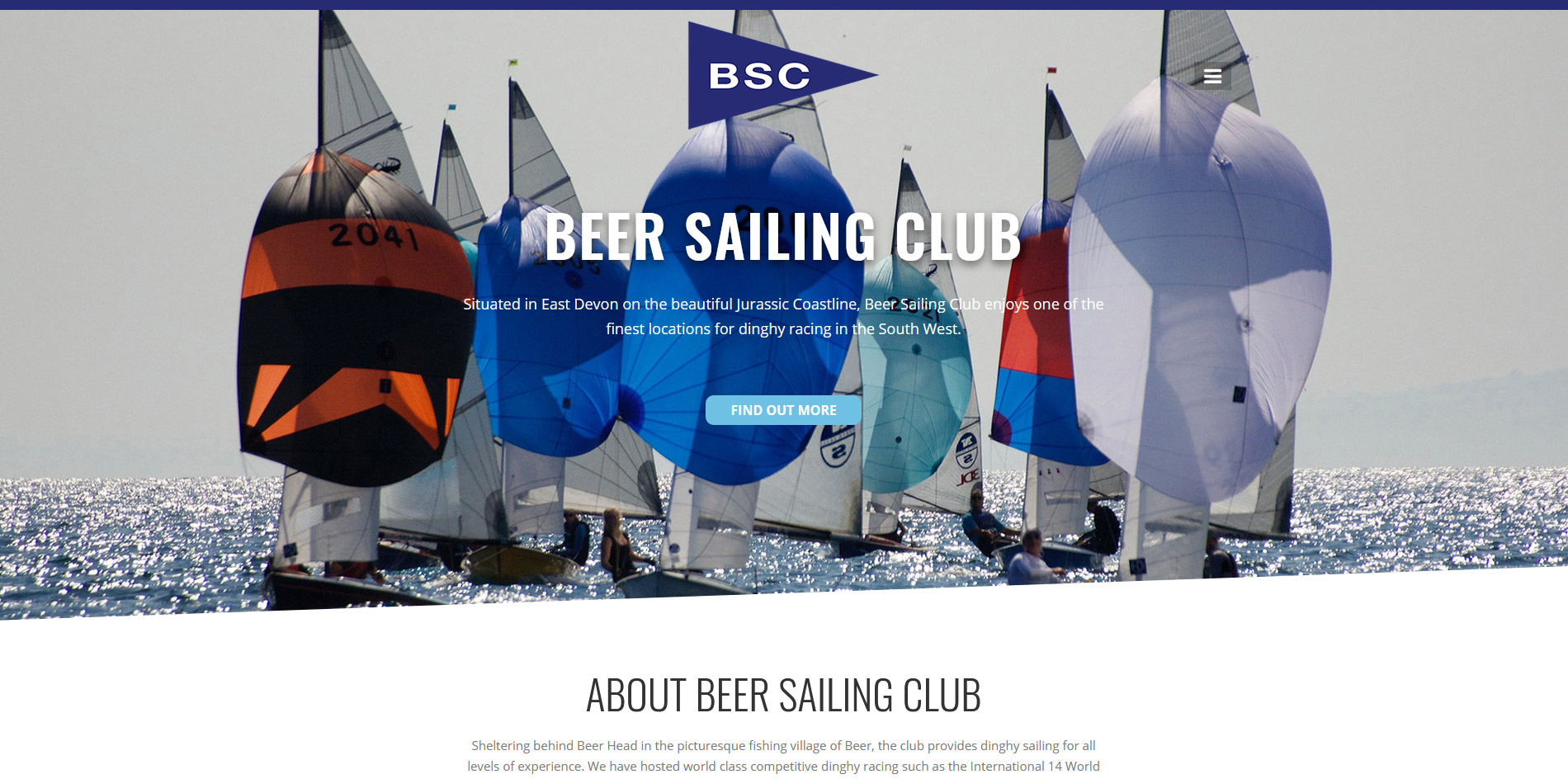 Beer Sailing Club Website