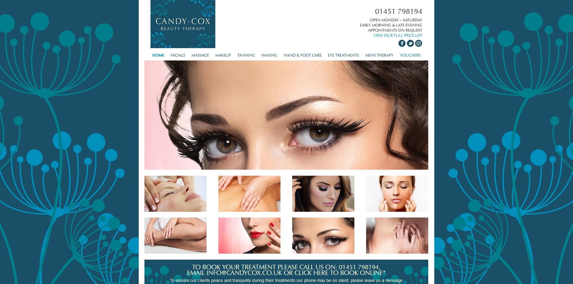 Candy Cox Beauty Therapy Website