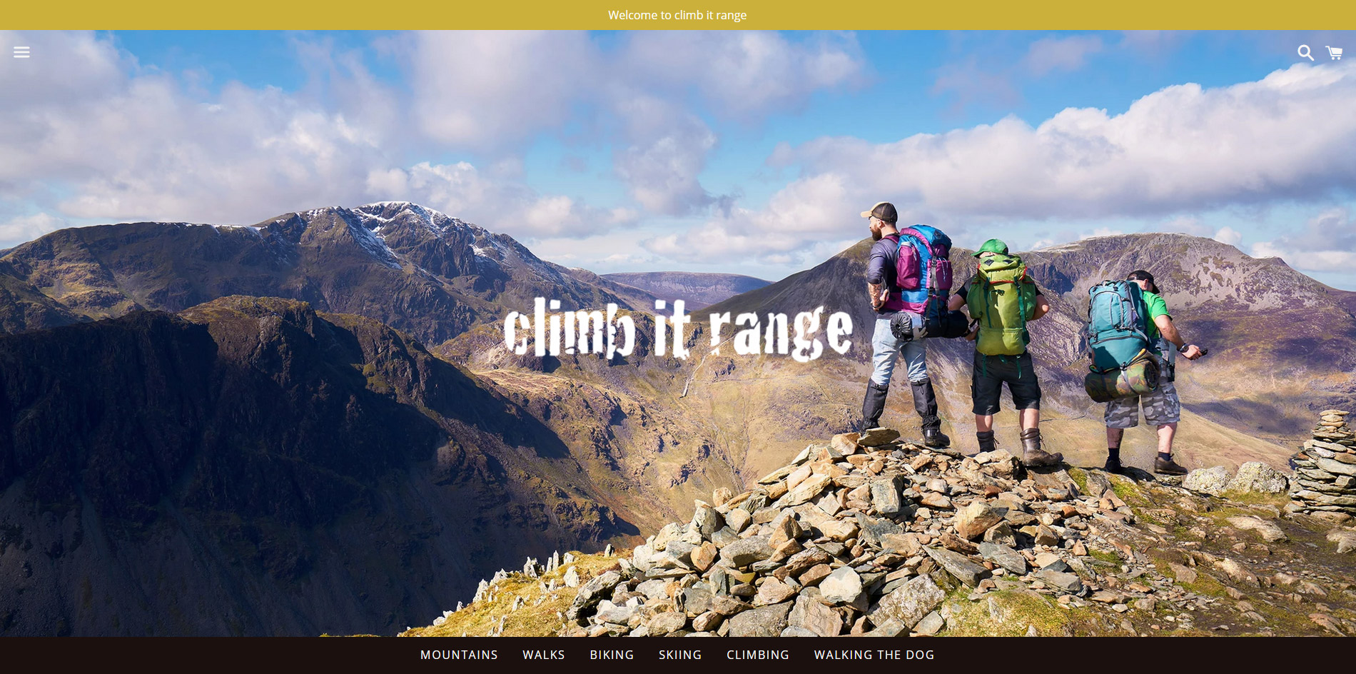 Climb it range website