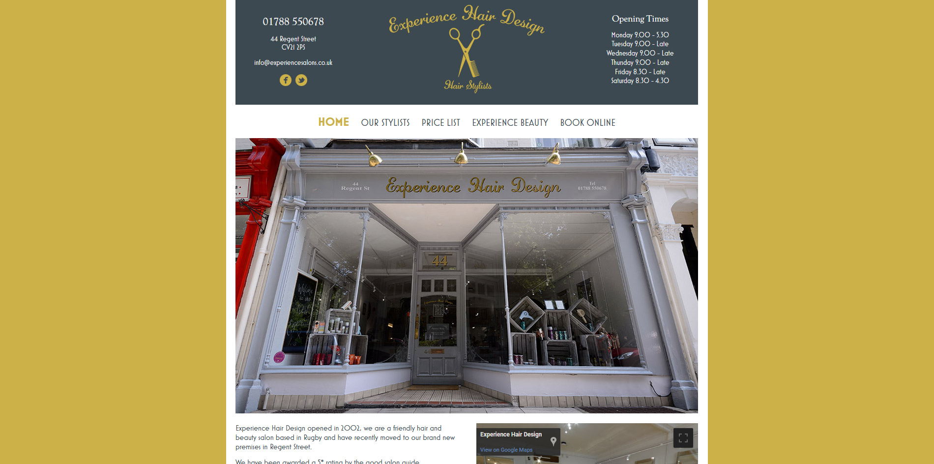 Experience Salons Website