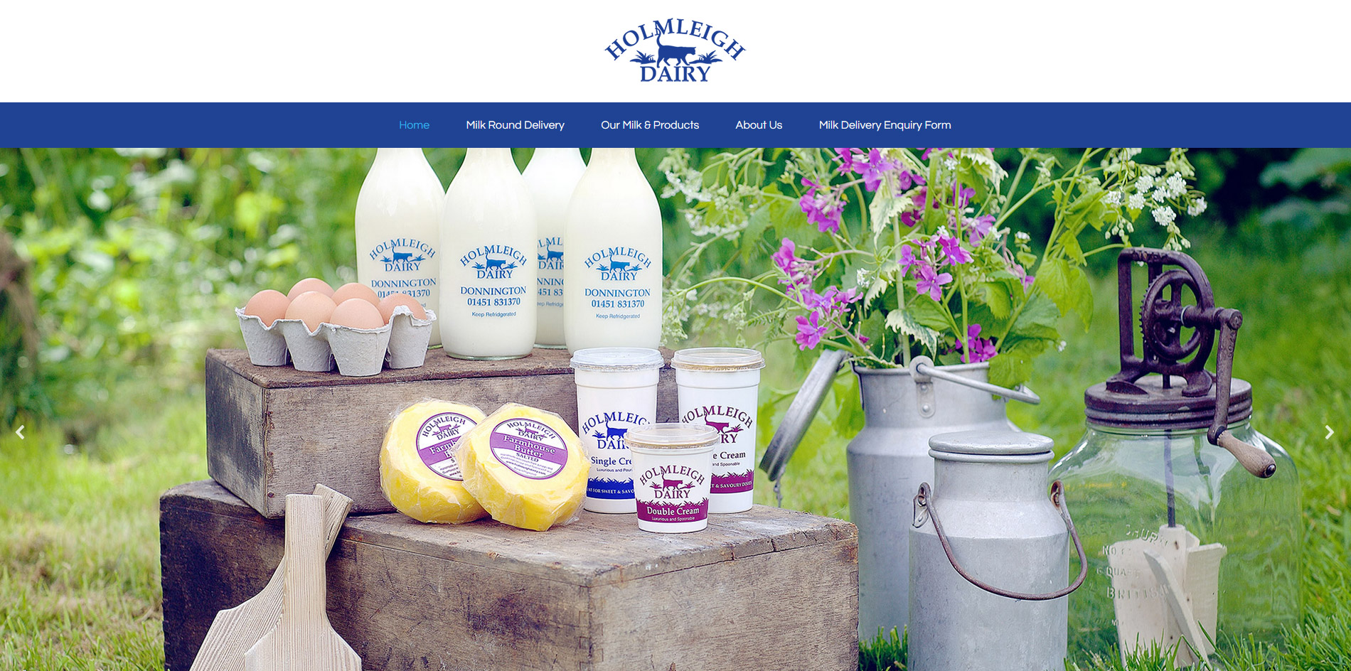 Holmleigh Dairy Website