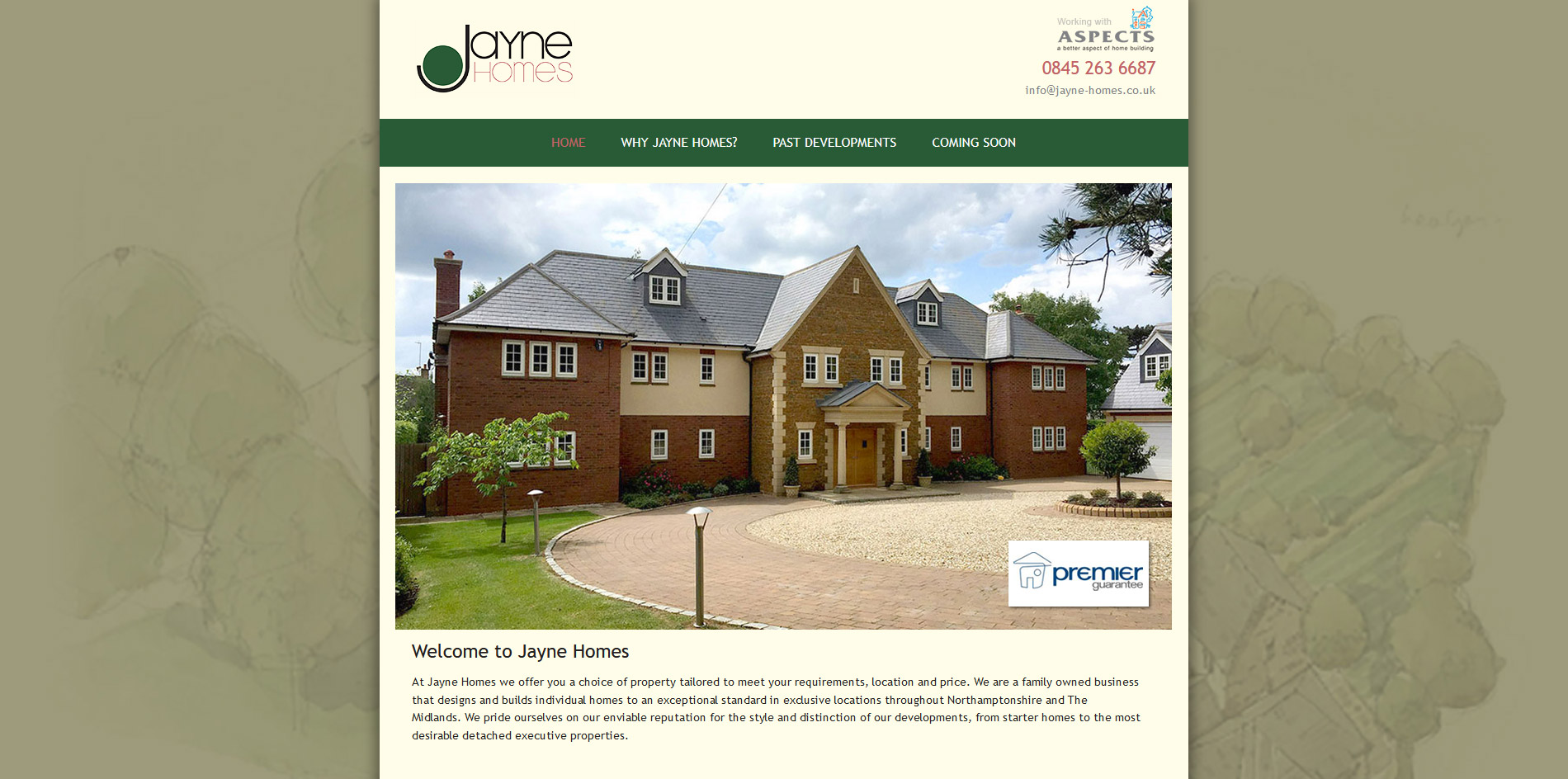 Jayne Homes Website