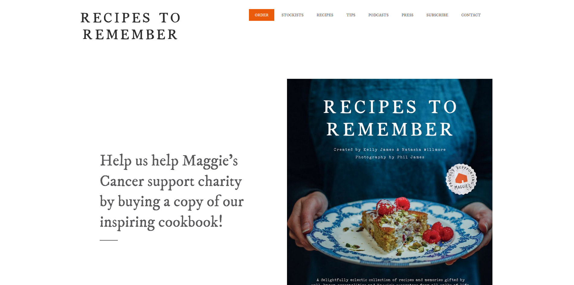Maggies Cookbook Website