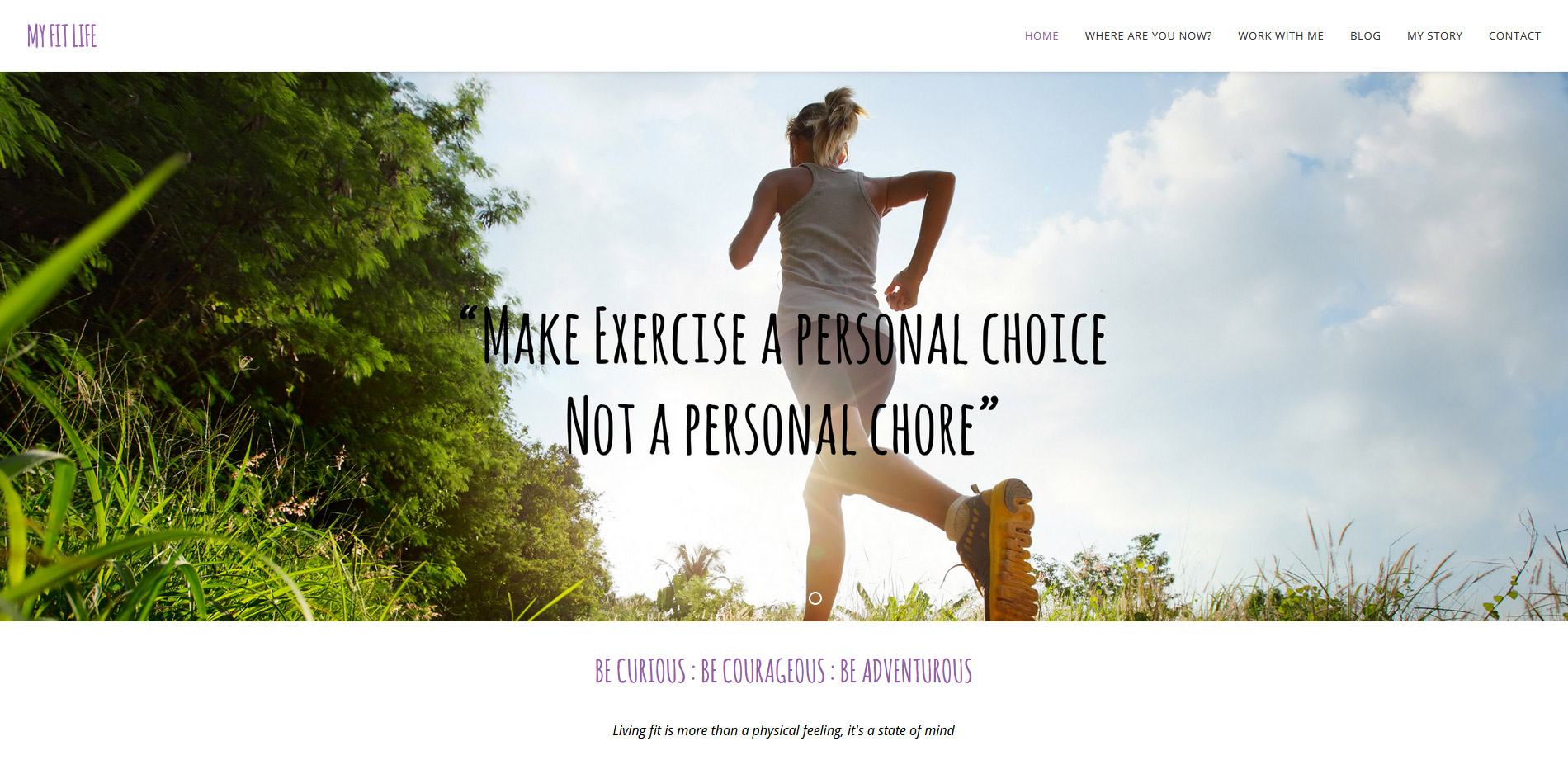 My Fit Life Coaching Website