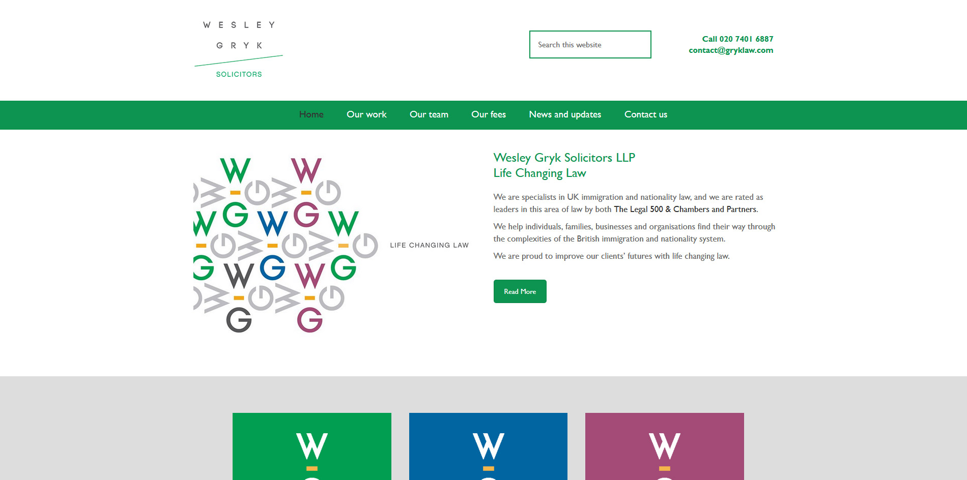 Wesley Gryk Solicitors Website