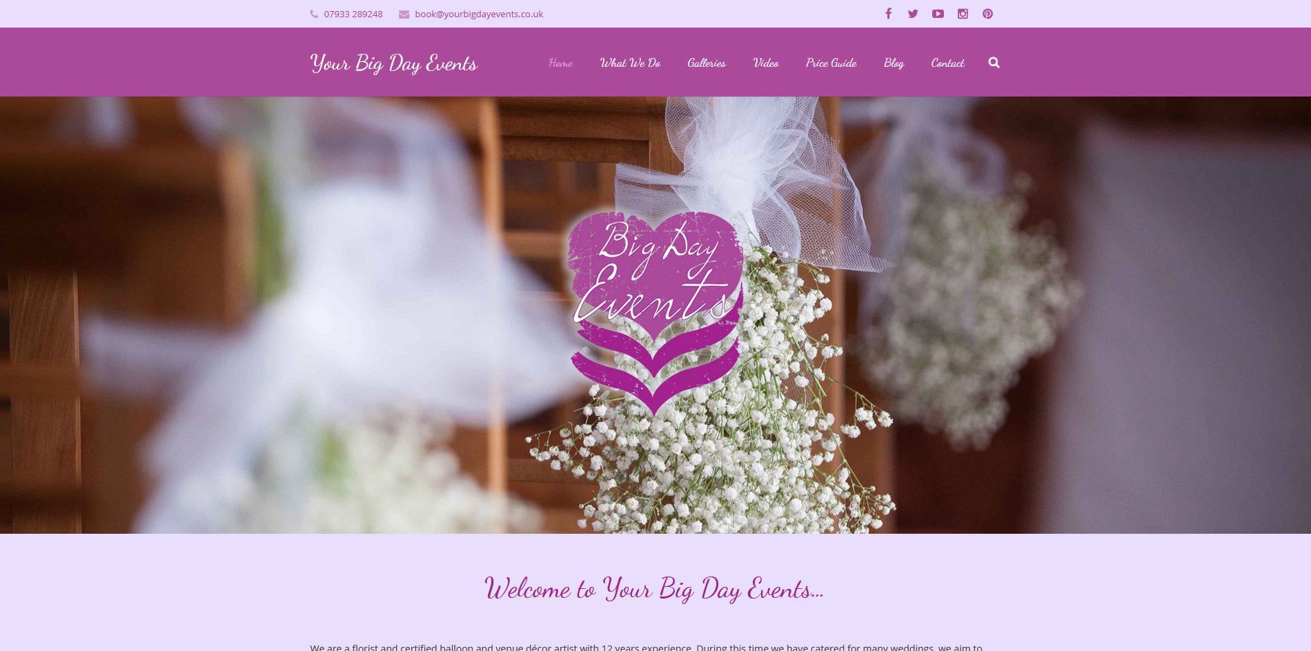 Your Big Day Events Website