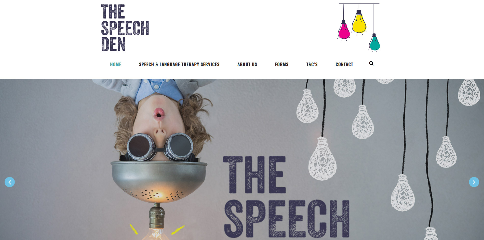 The Speech Den Website